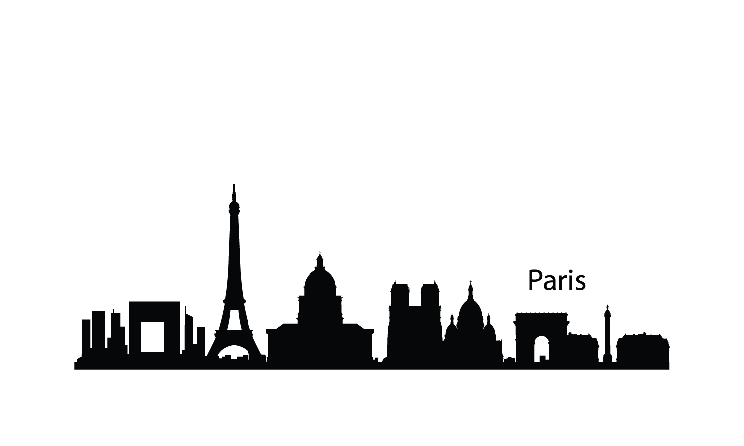 1500x900 Eiffel Tower Clipart Skyline