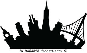 300x184 Free Art Print Of Sacramento, California Skyline. Detailed Vector