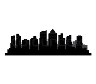 320x280 Fresno California Skyline Detailed Vector Silhouette Stock