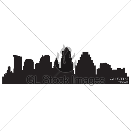 500x500 Austin, Texas Skyline. Detailed Vector Silhouette Gl Stock Images