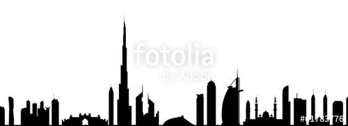 500x181 dubai skyline clipart free