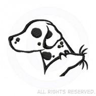 190x190 Silhouette Dalmatian Decal Sew Dog Crazy