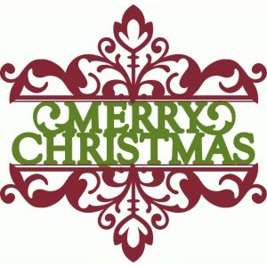 300x300 Merry Christmas Split Damask Silhouette Design, Damasks And Merry