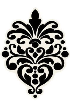 236x354 Damask Stencil On Faux Painting, Stencil Patterns