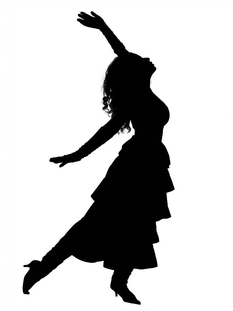 750x1000 Dancing Girl Silhouette Clipart Dance Living Sculpture Ourselves