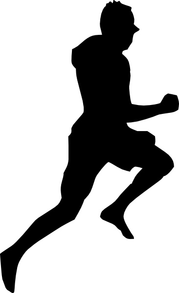366x597 Jumping Dancing Silhouette Running Clip Art Free Vector In Open