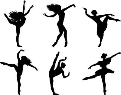 Dance Line Silhouette