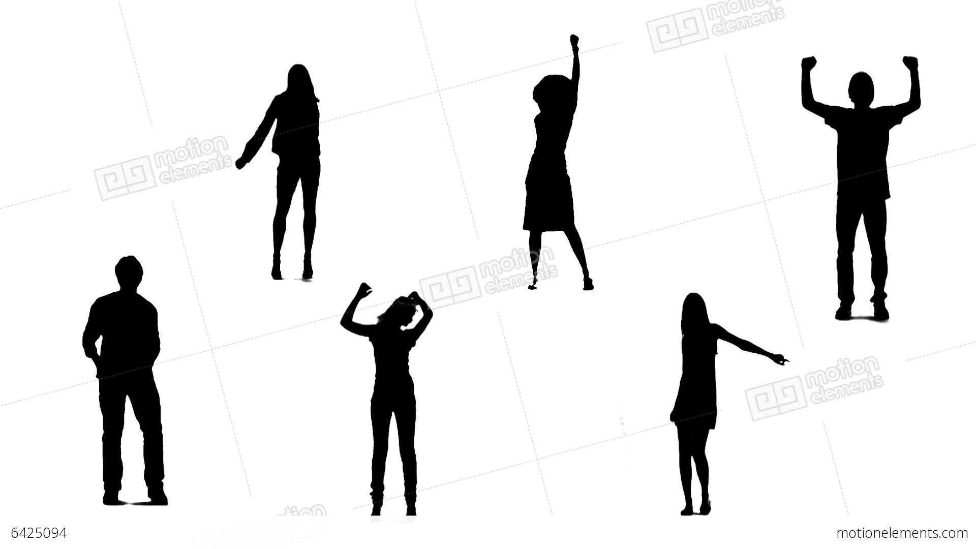 1920x1080 Silhouettes Of Young People Who Dance 1 Stock Animation 6425094