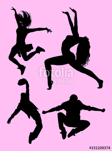 374x500 Dancer Pose, Male And Female Silhouette. Good Use For Symbol, Logo