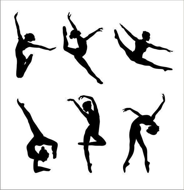 589x609 Gymnasts Dancers Wall Decal