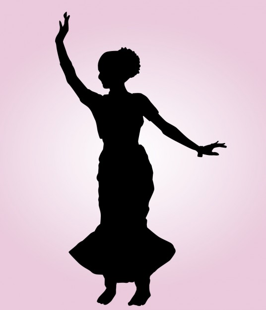 536x626 Indian Dancing Pose Silhouette Vector Free Download