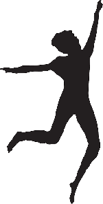 150x296 Silhouette, Woman, Dancing, Art, Pose, Leap, Dance