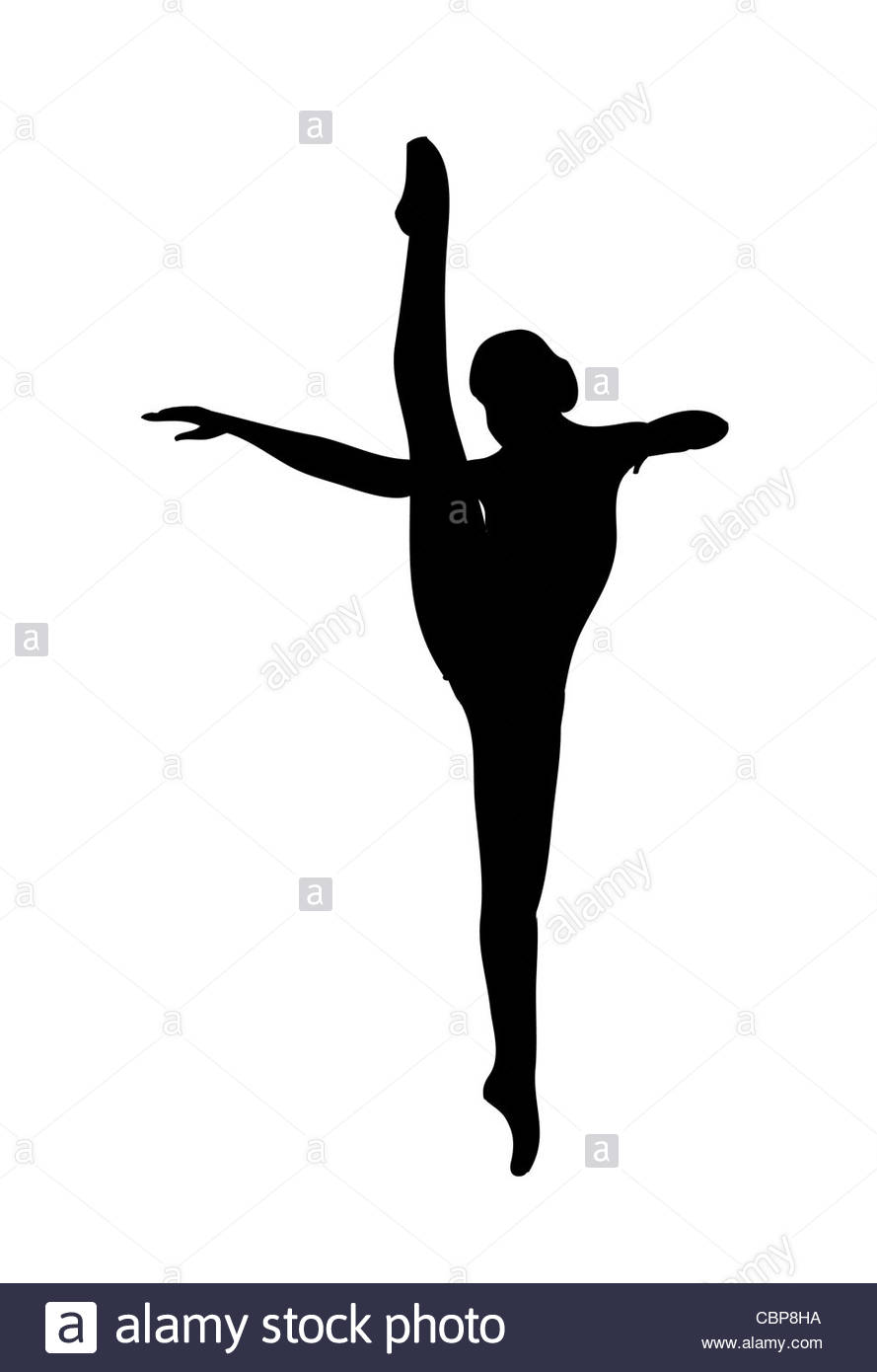 889x1390 Ballet Pose Silhouette Bw Illustration Stock Photo 41671654