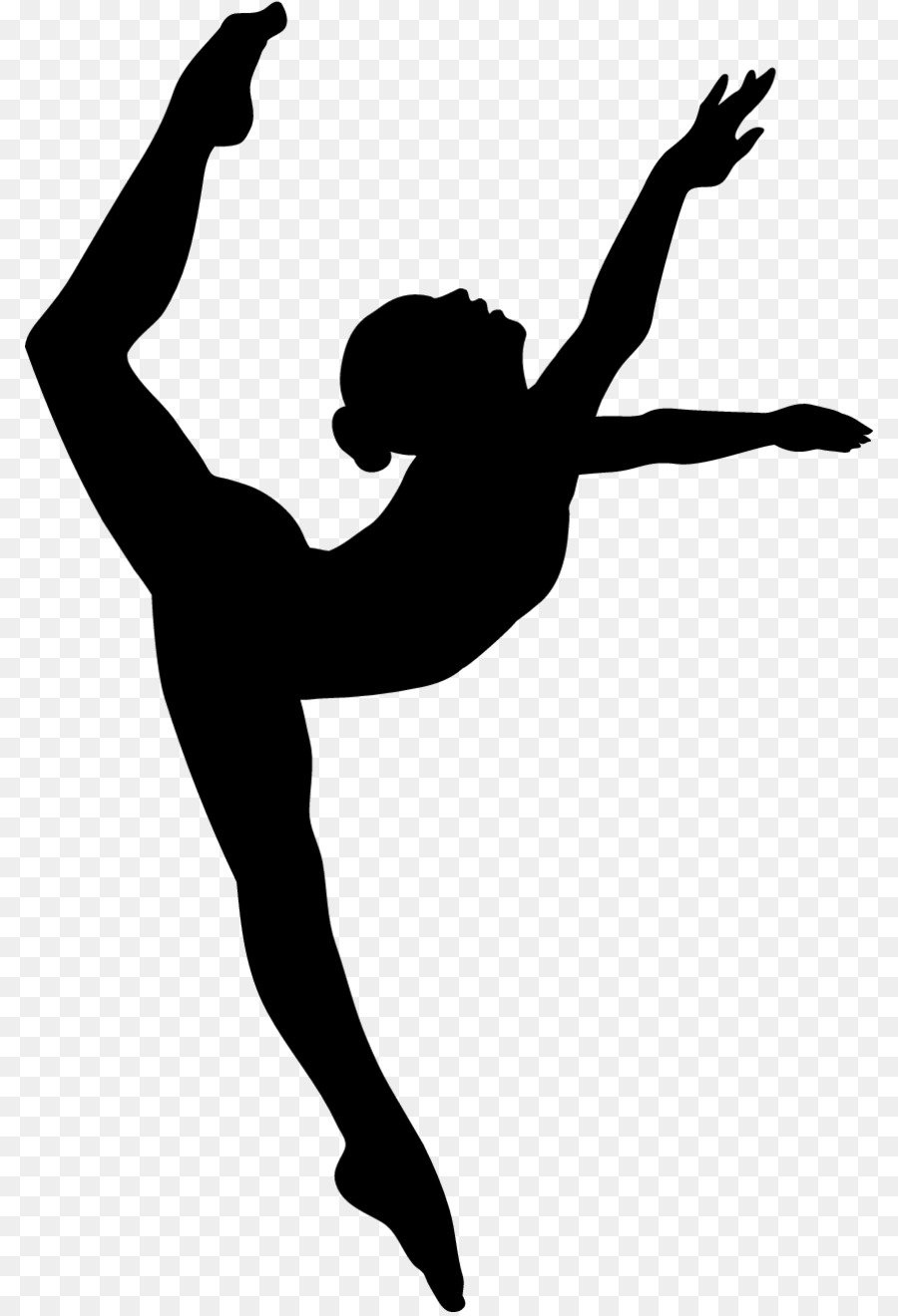 900x1320 Modern Dance Shoe Silhouette Clip Art