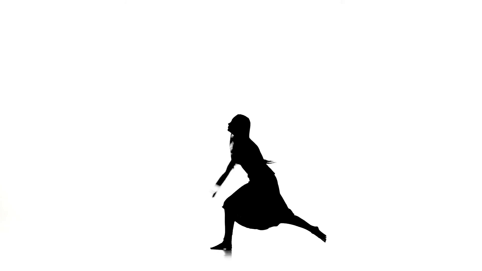 1920x1080 Slim Woman Dancer Dancing Contemporary Dance, Jumps And Makes