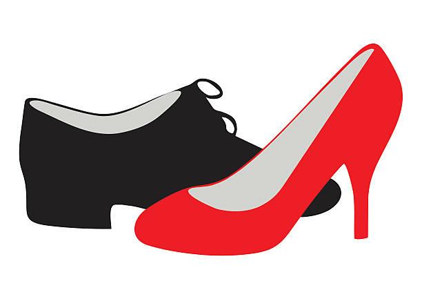 612x433 Wellsuited Dance Shoes Clip Art Silhouette Clipart