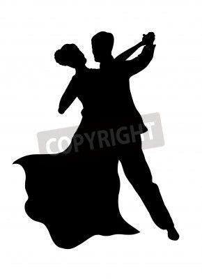 290x400 Ballroom Dance Shoe Silhouette