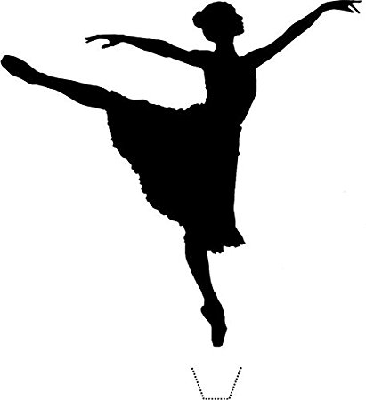 411x450 Novelty Dancing Ballerina Silhouette 12 Edible Stand Up Wafer