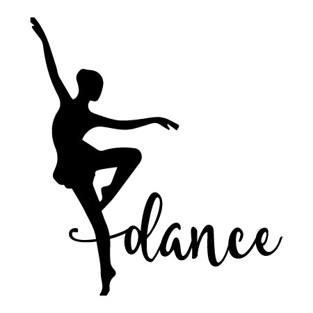 450x450 Elegant Dance Silhouette Wall Decal