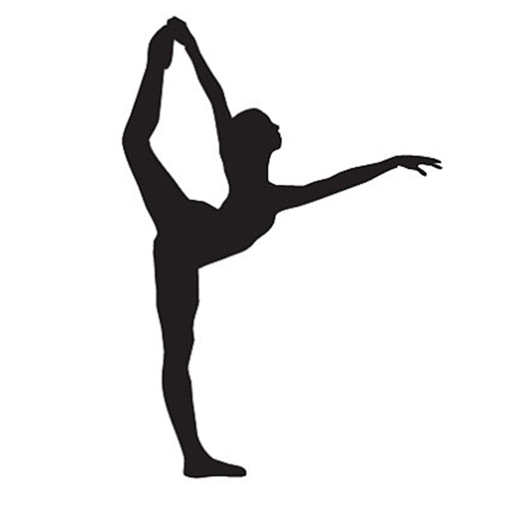 720x720 Elegant Silhouette Of A Dancer Is 8 Tall Vinyl Decal. Easy