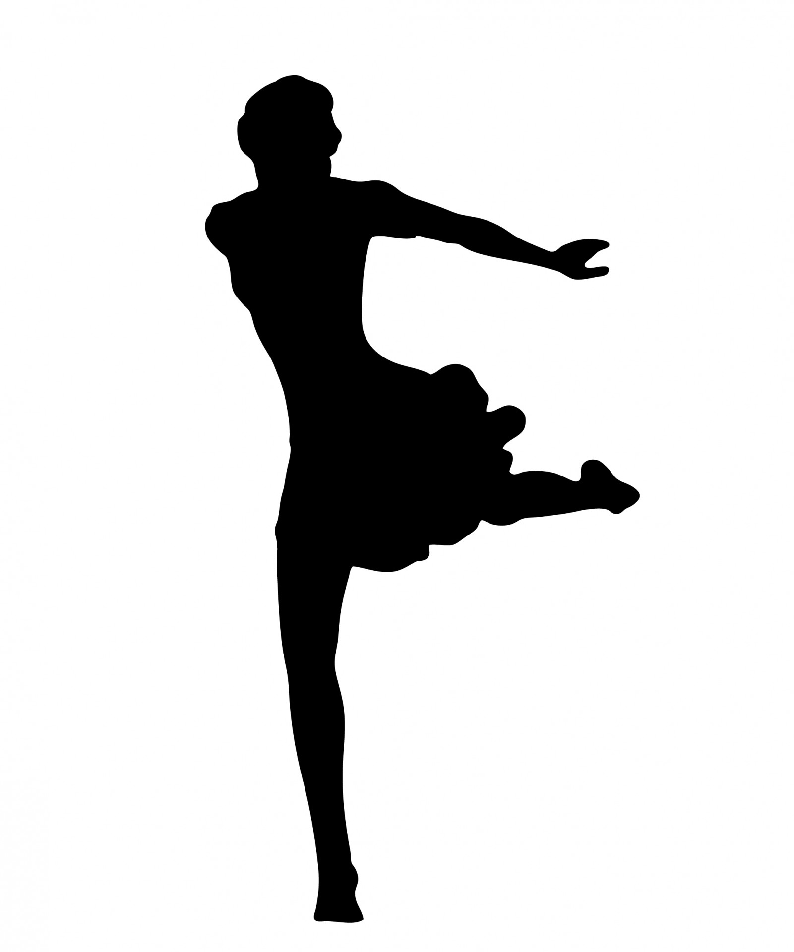 1601x1920 Dancer Silhouette Free Stock Photo