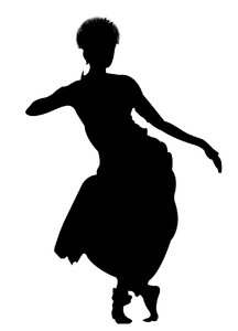 216x300 A Dancer's Silhouette, From Simply Silhouettes