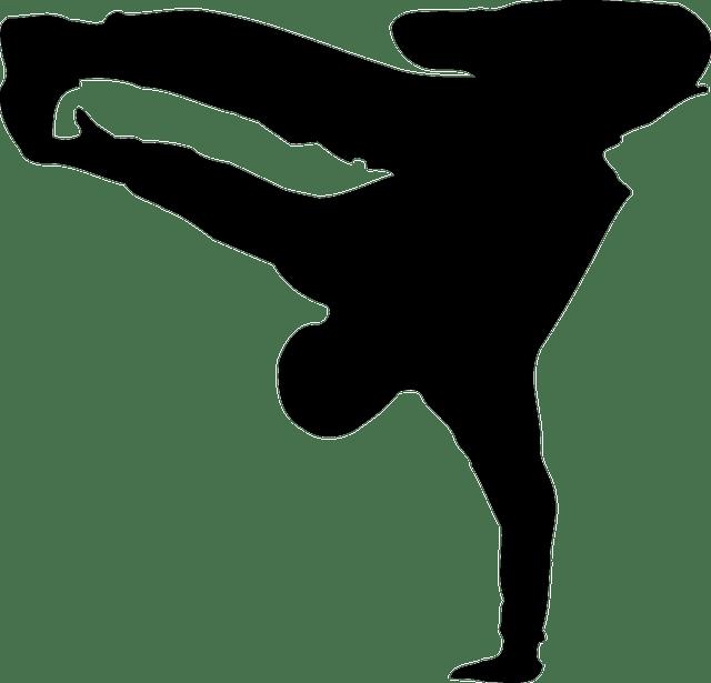 640x615 Break Dance Silhouette Transparent Png