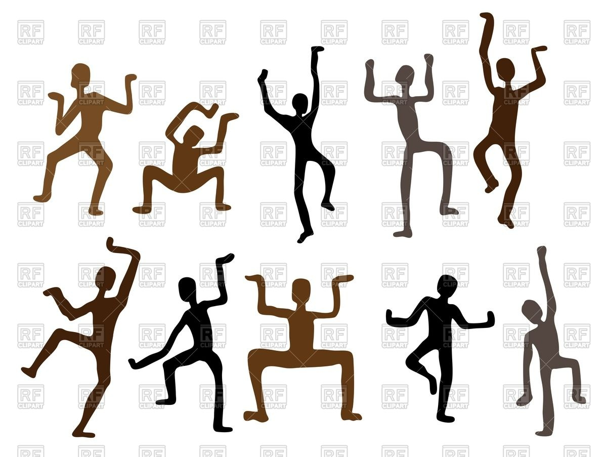 1200x903 Silhouettes Of African Dancers As Rock Paintings Royalty Free