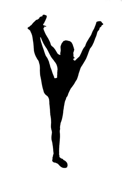 500x748 Cheerleader Silhouette Clip Art Cheerleading Stunt Silhouette