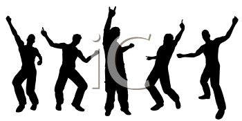 350x175 Dancing Man Clipart