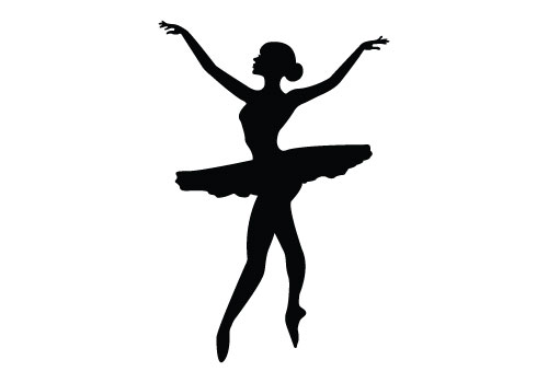 500x350 Free Dancing Silhouette Vector Clipart