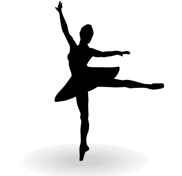 600x580 Ballet Dancer Silhouette Vector Free 123freevectors