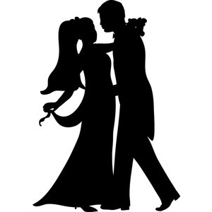 300x300 Bride Clipart Groom Silhouette
