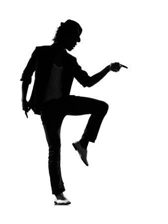 338x450 Full Length Silhouette Of A Young Man Dancer Dancing Funky Hip Hop
