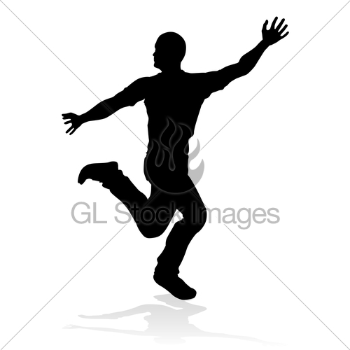 500x500 Street Dance Dancer Silhouette Gl Stock Images