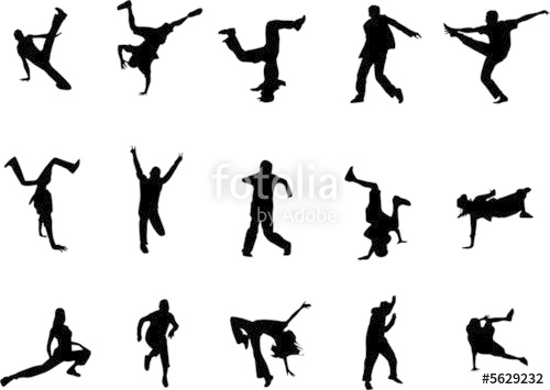 500x355 Hip Hop And Dancing Silhouettes Stock Image And Royalty Free