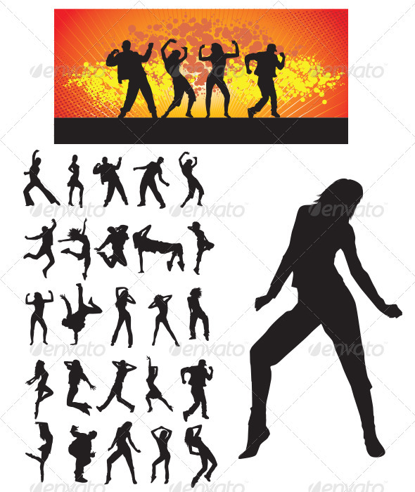 590x700 Dancer Silhouette By Meriang Graphicriver