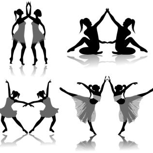 316x316 Dance Silhouette Vectors Download Free Vector Art Amp Graphics