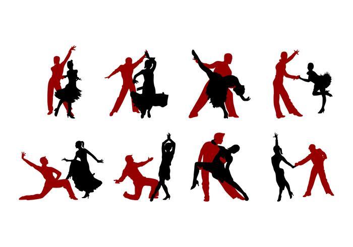 700x490 Samba Dance Silhouettes Vector