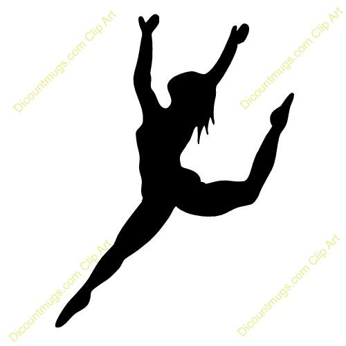 500x500 Ribbon Dancer Silhouette Clip Art Dance Leap Silhouette Clipart