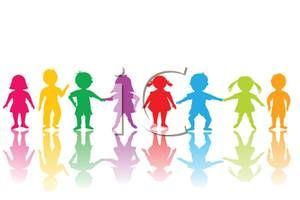 300x200 Children Silhouettes Clip Art Clipart Image Of A Rainbow
