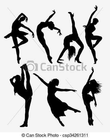 375x470 Cool Dancing Silhouette. Cool Dancing. Modern Dance Woman
