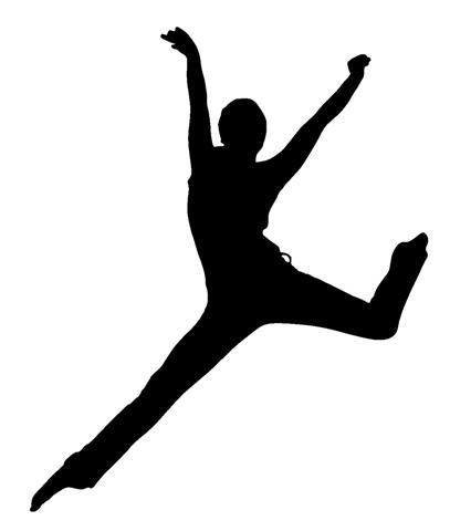 407x480 Dancer Silhouette 10 Decal Sticker