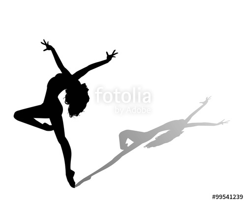 500x411 Dancer Silhouette Stock Image And Royalty Free Vector Files