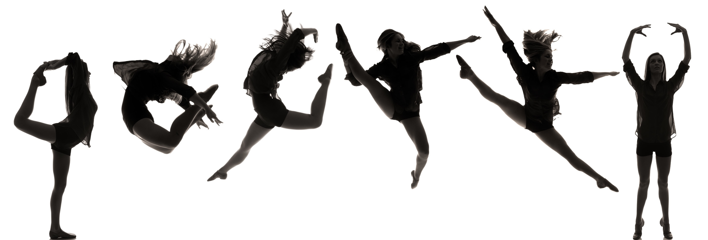 2800x950 Dance Team Silhouette Clipart