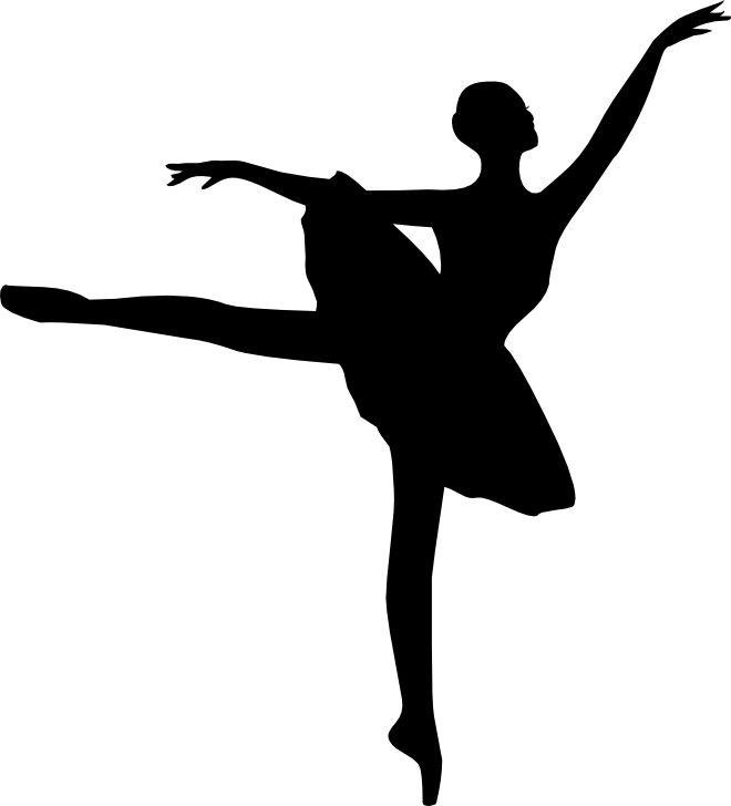 660x728 Vintage Clip Art Pretty Ballerina Silhouette The Graphics Fairy