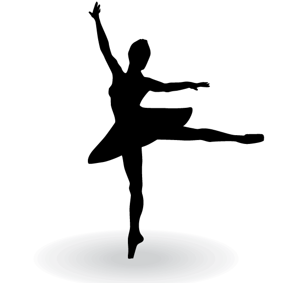600x580 Ballerina Silhouette Vector Clip Art 123freevectors