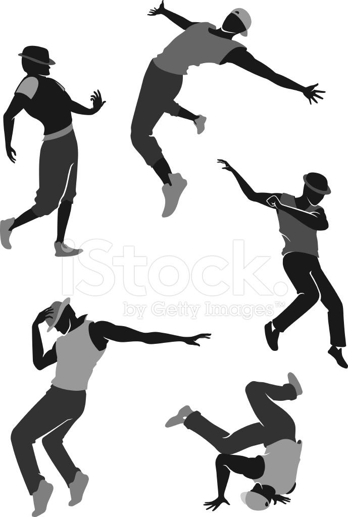 689x1024 Hip Hop Dance Silhouette Stock Vector