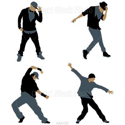400x400 Hip Hop Dancer Silhouette Clipart