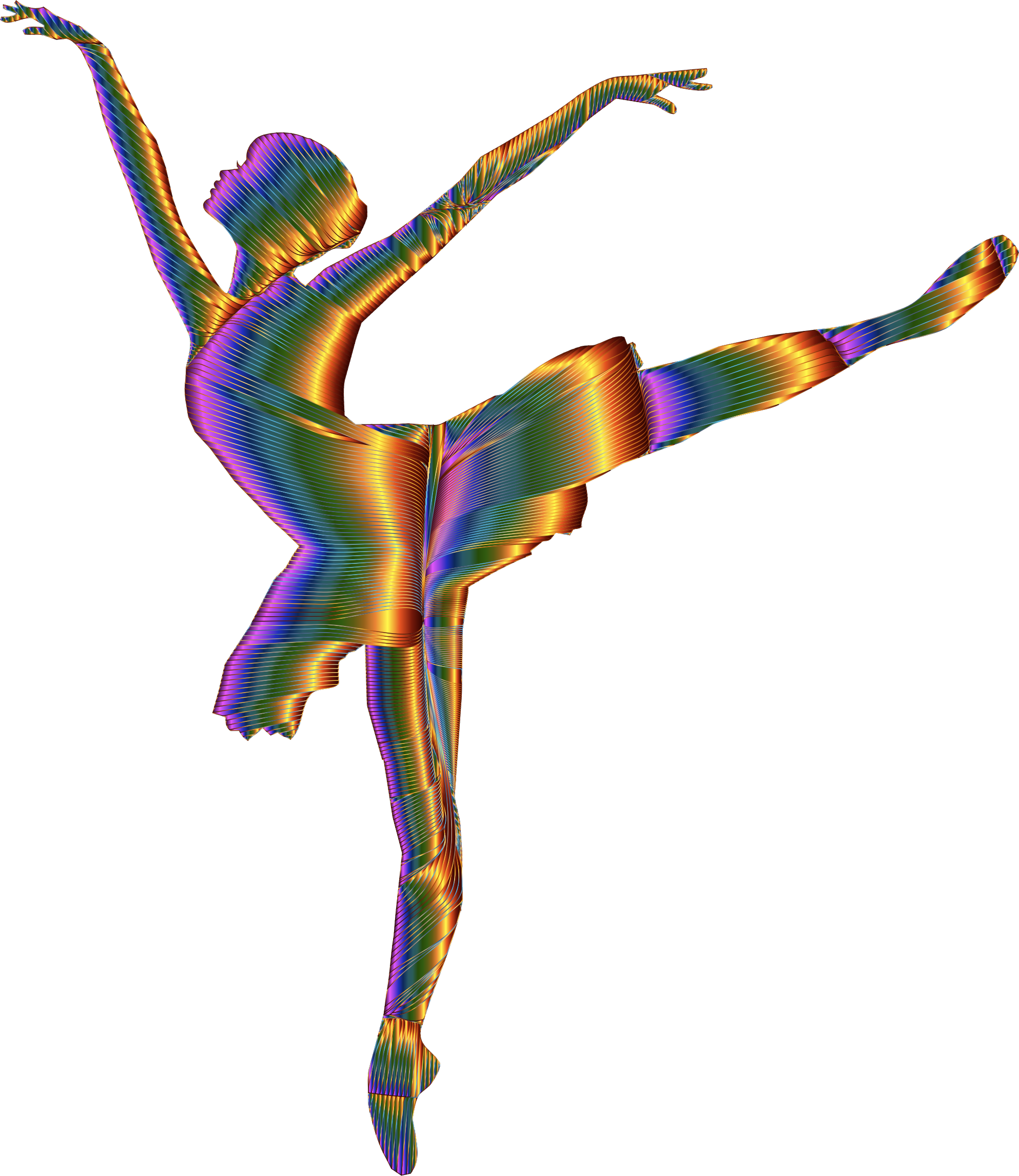 1986x2292 Chromatic Graceful Ballerina Silhouette No Background Icons Png